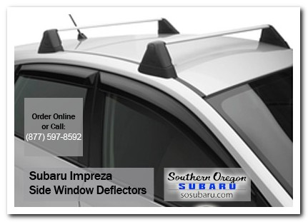 Medford, subaru, side window deflectors, impreza, accessories, parts, specials