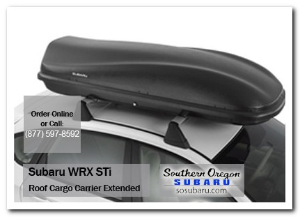 Medford, subaru, roof cargo carrier, extended, wrx / sti, accessories, parts, specials