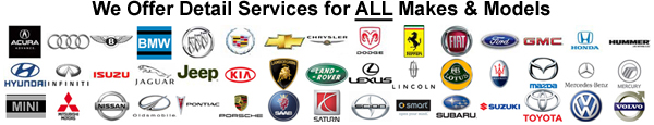 We offer detail services for all makes and models