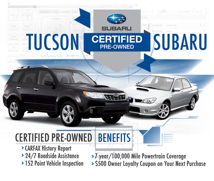 subaru certified pre owned program tucson arizona used vehicle information. Black Bedroom Furniture Sets. Home Design Ideas