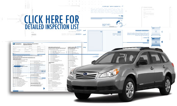 Subaru Certified Pre-Owned Vehicle Checklist