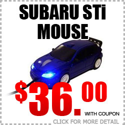 Genuine Subaru WRX STi Mouse & Mouse Pad Parts Special at Tucson Subaru