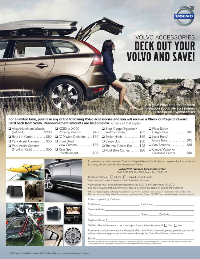 Volvo of Tucson Genuine Accessories Rebate Offer