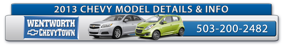 2013 Chevrolet Model Details, Specifications & Features, Portland, Oregon