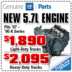Chevrolet 5.7L Engine K Series Years 1987-1995 Parts Discount Coupon, Car Repair, Maintenance, Special, Portland, Oregon