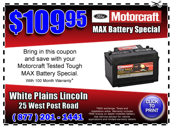 Motorcraft Max Battery Special Westchester