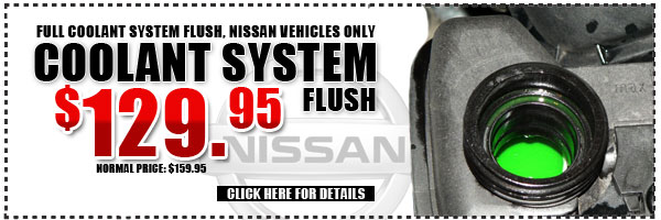 White Plains Nissan Coolant System Flush Service Special serving Westchester, New York