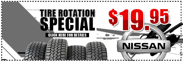 Nissan Tire Rotation Service Special & Maintenance Discount Coupon serving Westchester, New York
