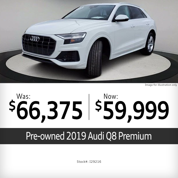 Pre-Owned 2019Audi Q8 PremiumSpecial in Columbus, OH