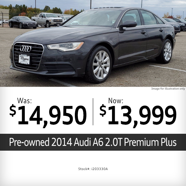 2014 A6 2.0T Premium Plus Pre-Owned Special in Columbus, OH