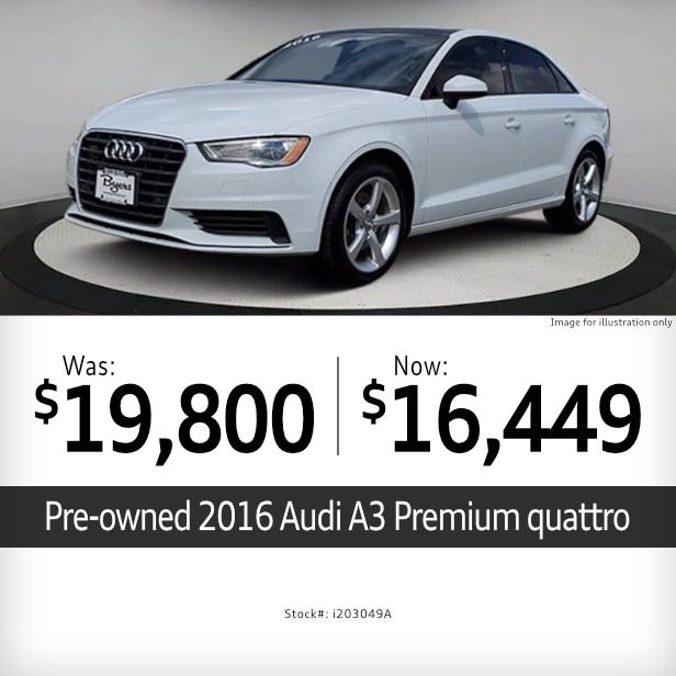 2016 A3 Premium quattro Pre-Owned Special in Columbus, OH