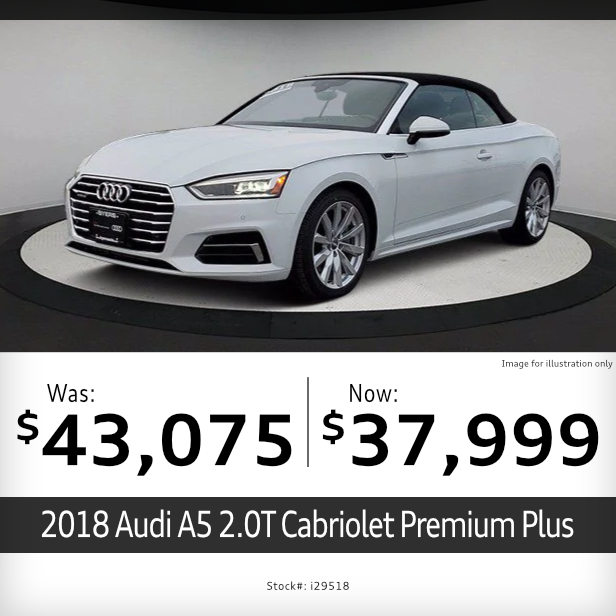 2018 Audi A5 2.0T Cabriolet Premium Plus Pre-Owned Special in Columbus, OH