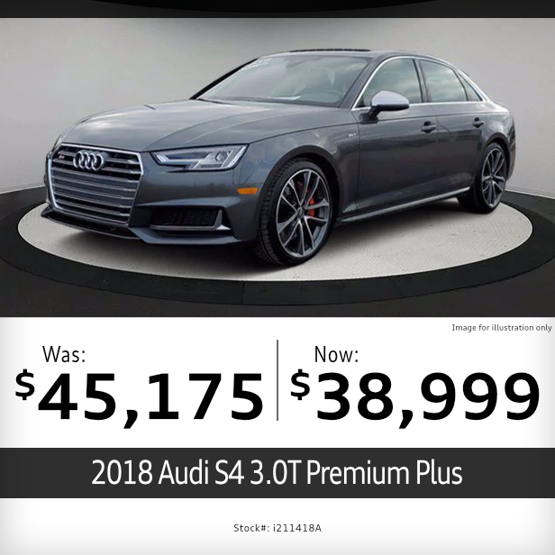 2018 Audi S4 3.0T Premium Plus Pre-Owned Special in Columbus, OH