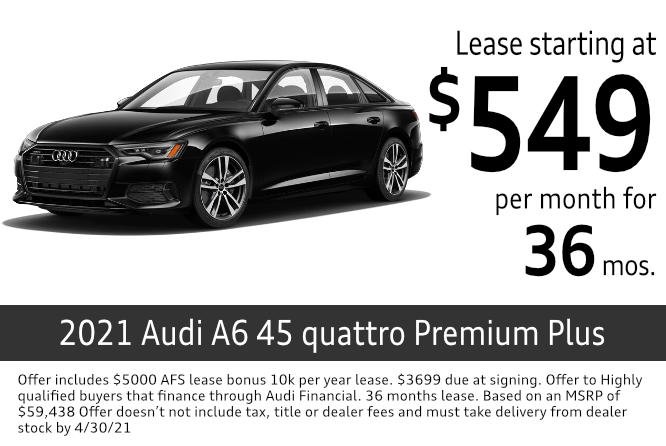 New 2021 Audi a6 45 quattro Premium Plus lease special at Audi Columbus in Columbus, OH
