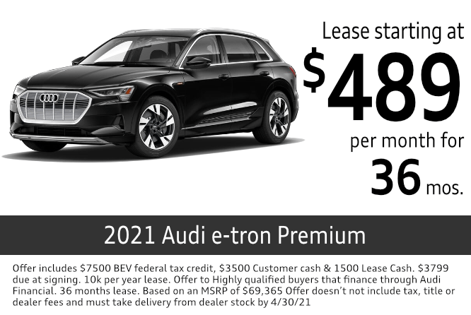 New 2021 Audi e-tron Premium lease special at Audi Columbus in Columbus, OH