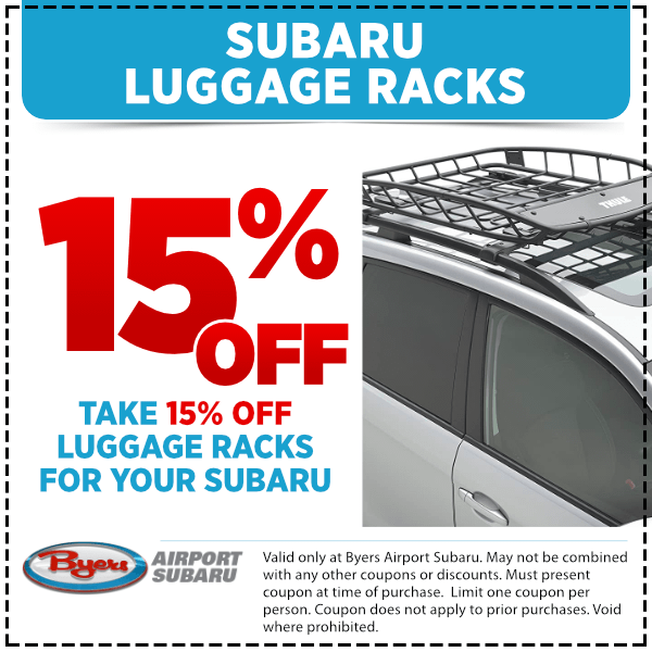 Save with this special offer on a genuine Subaru Luggage Roof Rack from Byers Airport Subaru in Columbus, OH