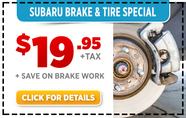 Subaru Brake Inspection and Tire Rotation Service Special