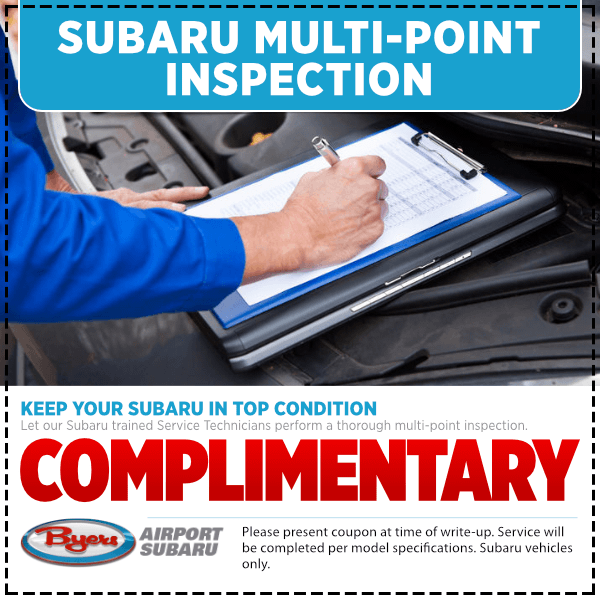 Subaru Complimentary Multi-Point Inspection Service Special serving Columbus, OH