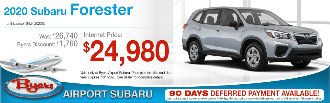 New 2020 Subaru Forester Base Special Purchase Offer Special at Byers Airport Subaru in Columbus, OH