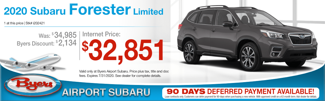 New 2020 Subaru Forester Limited Special Purchase Offer at Byers Airport Subaru in Columbus, OH