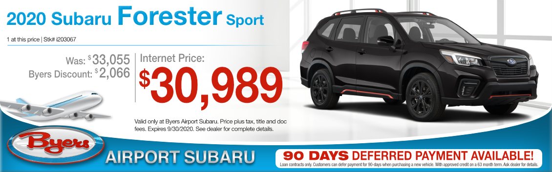 New New 2020 Subaru Forester Sport Purchase Special at Byers Airport Subaru in Columbus, OH