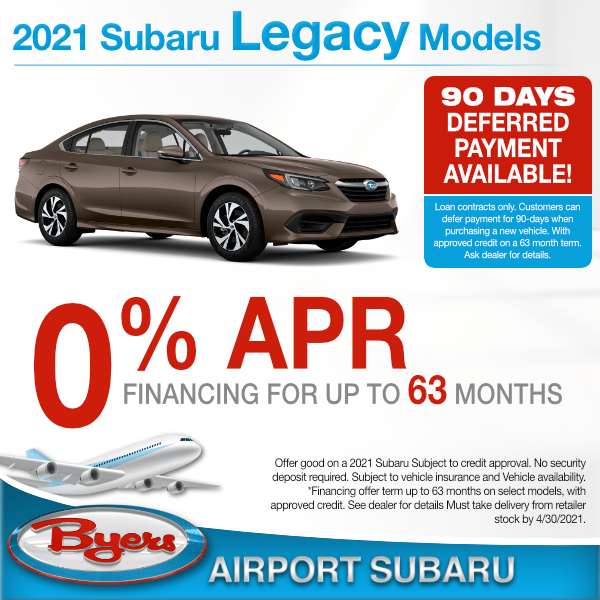 2021 Subaru Legacy 0% for up to 63 months in Columbus, OH