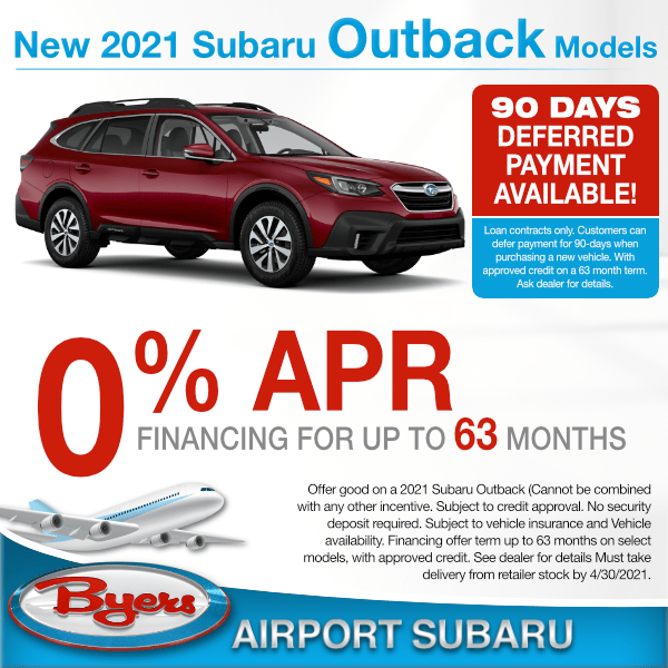 2021 Subaru Outback for 0% for up to 63 months in Columbus, OH