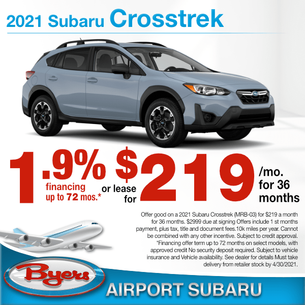 2021 Subaru Crosstrek Premium for $219 a month for 36 months or 1.9% for up to 72 months. in Columbus, OH