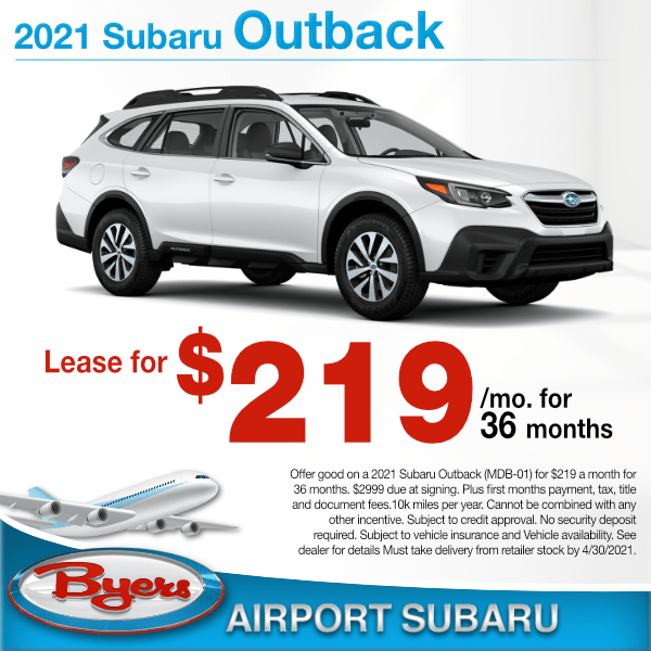 2021 Subaru Outback for $219 a month for 36 months in Columbus, OH