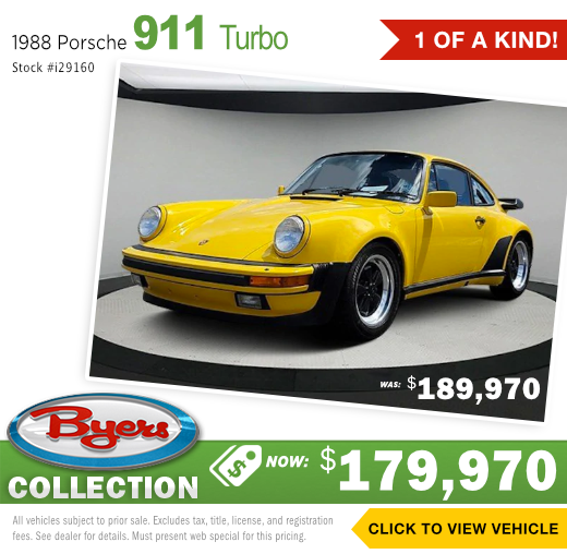 1988 Porsche 911 Turbo Exotic Used Special in Columbus, OH