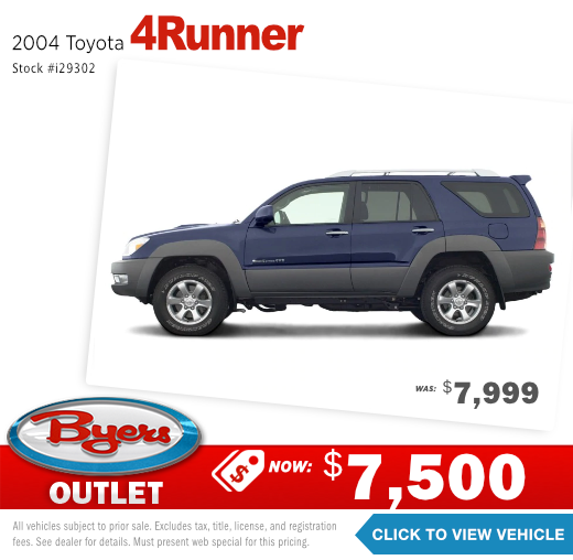 2004 Toyota 4Runner Pre-Owned Special in Columbus, OH