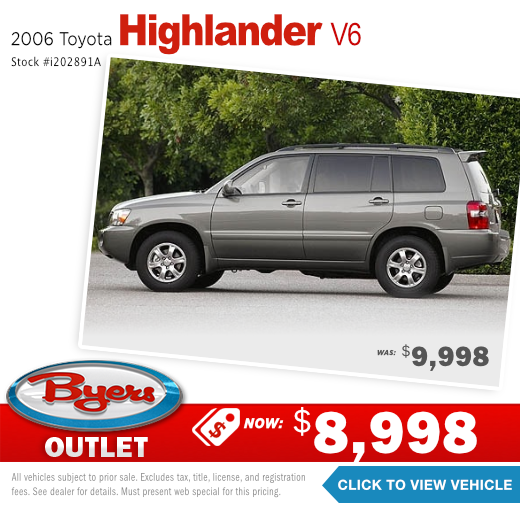 2006 Toyota highlander v6 Pre-Owned Special in Columbus, OH