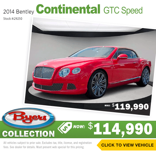 2014 Bentley Continental GTC Speed Used Special in Columbus, OH