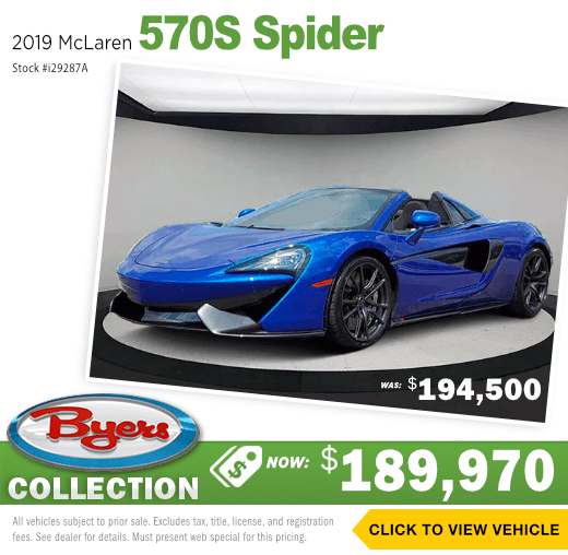 2019 McLaren 570S Spider Sales Special in Columbus, OH