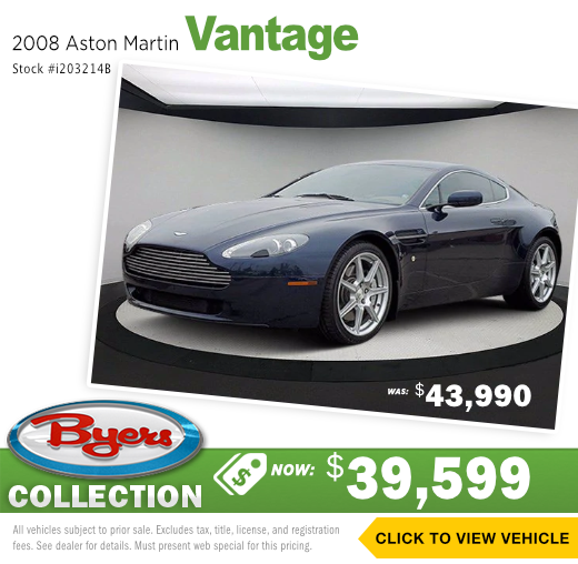 2008 Aston Martin Vantage Pre-Owned Special in Columbus, OH