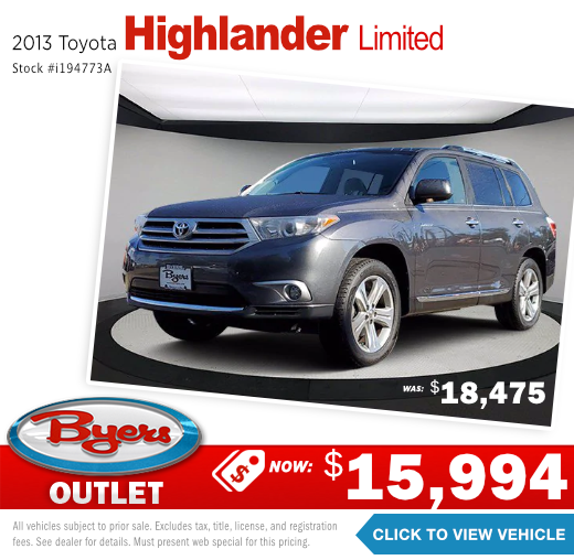 2013 Toyota Highlander Limited Pre-Owned Special in Columbus, OH