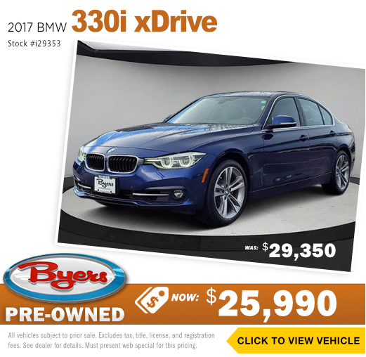 2017 BMW 330i X Drive Pre-Owned Special in Columbus, OH