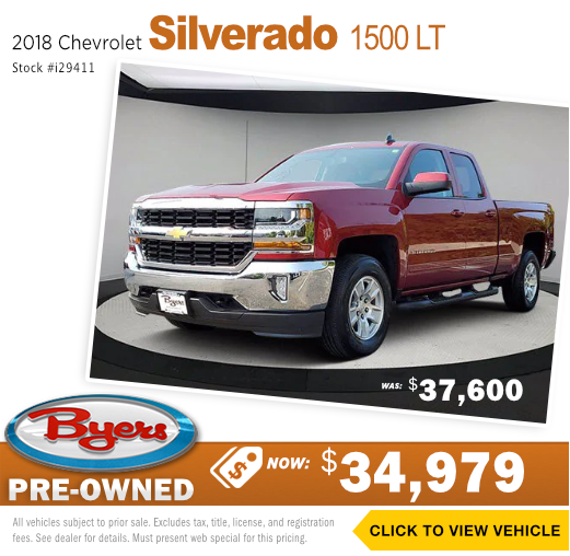 2018 Chevrolet Silverado 1500 LT Pre-Owned Special in Columbus, OH