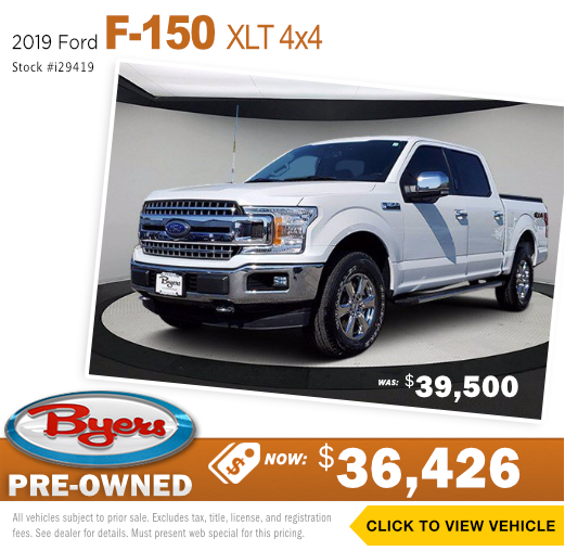 2019 Ford F150 XLT 4x4 Pre-Owned Special in Columbus, OH