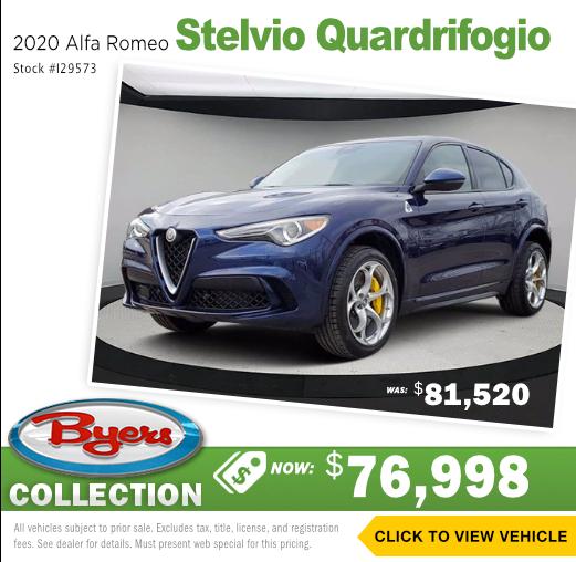 2020 Alfa Romeo Stelvio Quardrifogio Pre-Owned Special in Columbus, OH