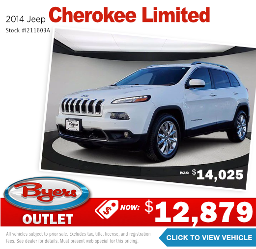 2014 Jeep Cherokee Limited Pre-Owned Special in Columbus, OH