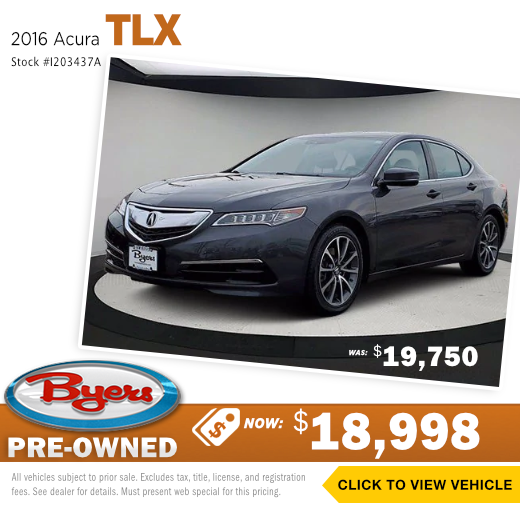 2016 Acura TLX Pre-Owned Special in Columbus, OH