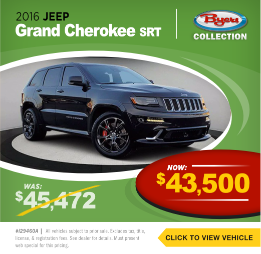 2016 Jeep Grand Cherokee SRT Pre-Owned Special in Columbus, OH