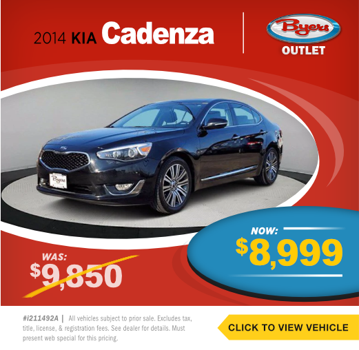 2014 Kia Cadenza Pre-Owned Special in Columbus, OH
