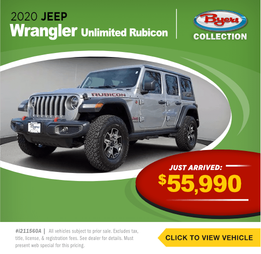 2020 Jeep Wrangler unlimited RubiconPre-Owned Special in Columbus, OH