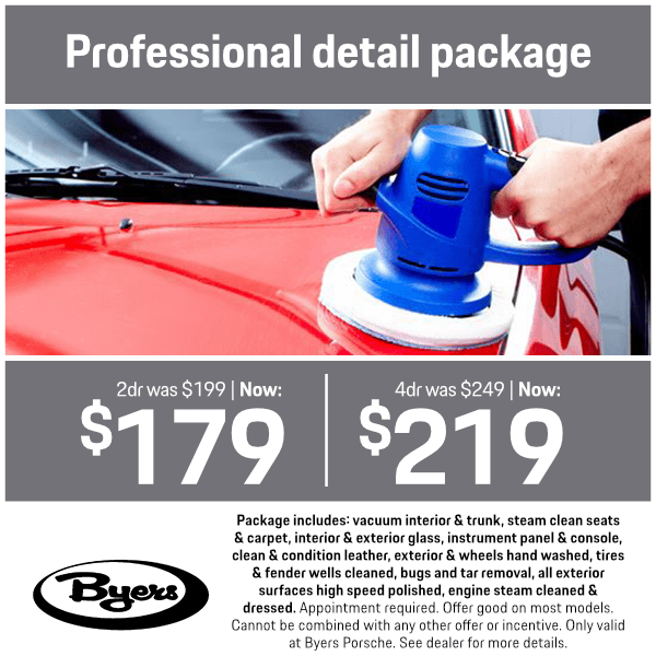 Professional Detail Package Service Special at Byers Porsche in Columbus, OH