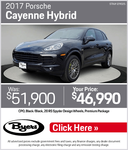 2017 Porsche Cayenne Hybrid Pre-Owned Special in Columbus, OH