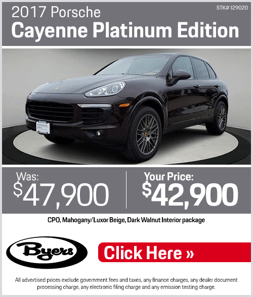 2017 Porsche Cayenne Platinum Edition Pre-Owned Special in Columbus, OH