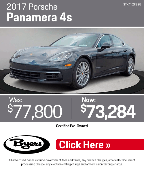 2017 Porsche Panamera 4s Pre-Owned Special in Columbus, OH