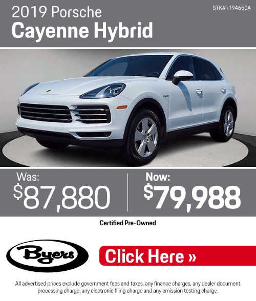 2019 Porsche Cayenne Hybrid Pre-Owned Special in Columbus, OH